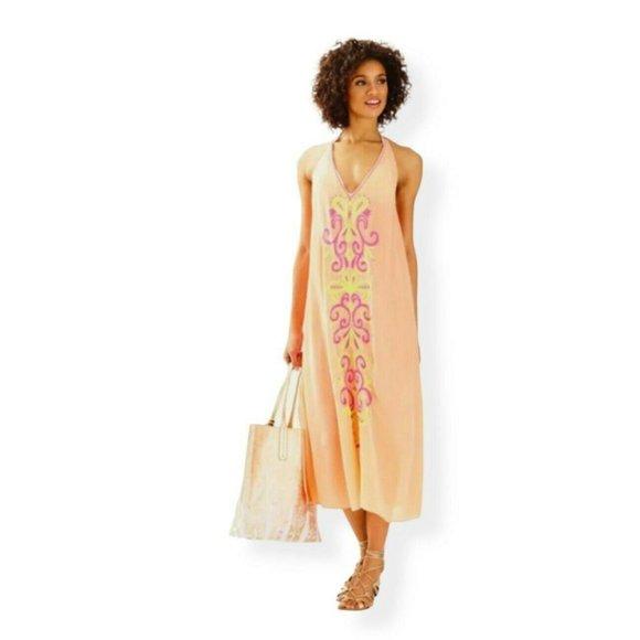 Lilly Pulitzer XXS Papaya Ferra Midi Dress Coverup